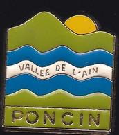 71373- Pin's -Poncin.Ain En Région Auvergne-Rhône-Alpes. - Città
