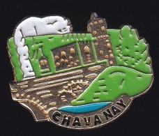 71383- Pin's -Chavanay. Loire En Région Rhône-Alpes. - Città