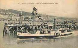 14 - Trouville - Bateau De Promenade Sortant Des Jetées - Animée - CPA - Voir Scans Recto-Verso - Trouville