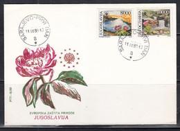 Yugoslavia - 1989 European Nature Preservation Set Of 2 On Fdc - Sonstige
