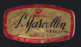 étiquette Fromage  St Marcellin X 3 Le Tiercé  45%mg 80g Pordin  Echalas 69 - Cheese