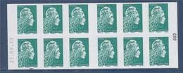 Marianne L'Engagée Carnet 1598-C10 Lettre Verte X12 à Droite 003 Daté 23.09.20 à Gauche, Découvrez Nos 22 Abonnements - Usage Courant