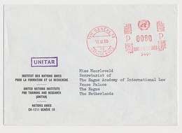 Meter Card Switzerland 1980 United Nations - UNITAR - UN Institute For Training And Research - ONU