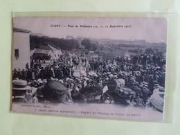 CPA    SAONE  ET  LOIRE  71    CLUNY   FETES  DU  MILLENAIRE  SEPTEMBRE  1910  LE  DEFILE - Cluny