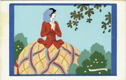 "Illustrateur : MESCHINI, G. Femme Elégante. ""Ars Nova"". Dipinta A Mano. Peinte à La Main. - Andere Illustrators"
