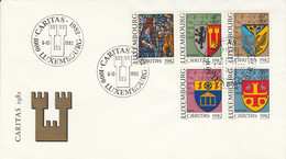 LUXEMBOURG 1982 CARITAS BLASONS - Sobres