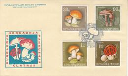 ALBANIE FDC 1990 CHAMPIGNONS - Pilze