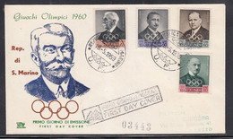 San Marino - 1959 International Olympic Committee Fdc - Other