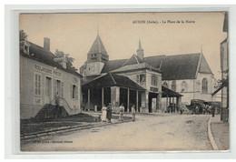 10 AUXON LA PLACE DE LA MAIRIE BOULANGERIE PRETAT EPICIER AMBULANT - Autres Communes