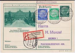 DR 3 Reich Ganzsache P 233 Bildpostkarte Rastatt Stpl Heiligenfelde RKte 1935 - Stamped Stationery