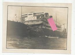 Photographie Paquebot Florida Colision 1 Avril 1931 Avec Porte Avions Hms Glorious Photo 14,5x20 Cm Env - Schiffe