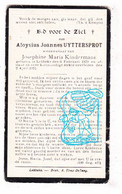 DP Aloysius Joannes Uyttersprot ° Lebbeke 1879 † 1921 X Josephine Kindermans - Santini