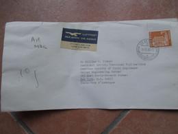14.12.1966 Busta Viaggiata Posta Aerea ORGANISATION MONDIALE DE LA Santè GENEVE Su Busta Ufficiale - Storia Postale
