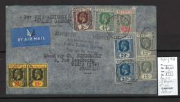 Maurice - Poste Aériene Vers La France - Avion Roland Garros - Vol Retour - 20/01/1937 - Mauritius (...-1967)