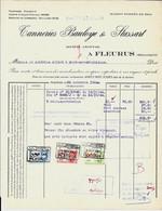 FLEURUS    -    Tanneries Bauloye & Stassart   1944 - Textilos & Vestidos