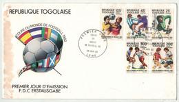 République Togolaise // Football, Coupe Du Monde 1982 Lettre 1er Jour - 1982 – Espagne
