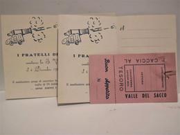Ticket Colleferro CACCIA AL TESORO Valle Del Sacco I FRATELLI DELLA FILIBUSTA 1954 - Other