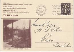 Schweiz - 10 Rp. Armbrust Ganzsache Landesausstellung Zürich - Chur 1939 - Interi Postali