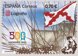 España. Spain. 2021. Efemérides. V Centenario De Logroño - 2011-... Nuevos & Fijasellos