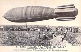 "DIRIGEABLES Dirigible - BALLON DIRIGEABLE "" VILLE De PARIS "" - CPA ( Edition E.S. PARIS ) - Luftschiff Luchtschip - Airships"