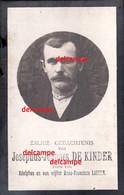 Oorlog Guerre Joseph De KINDER Zele Gesneuveld Bombardement D'une Usine De Munitions Bousbecque Wervicq Sud 26 JUNI 1918 - Devotieprenten