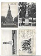 Lot De 8 Cpa Monuments Aux Morts - Monuments Des Combattants , Etc ... - Oorlogsmonumenten