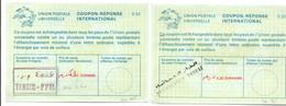 Coupon-réponse Maroc - Modèle La 25 - 4,40 Corrigé Au Bic & 5,30 Dirhams - Tanger & Casablanca - CRI IRC IAS - - Marokko (1956-...)