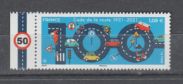 FRANCE / 2021 / Y&T N° 5493 ** : 100 Ans Du Code De La Route X 1 BdF G - Neufs