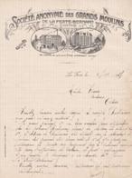 LA FERTE BERNARD SOCIETE ANONYME DES GRAND MOULINS ANNEE 1927 ENTE GRAND MOULIN ET LES MOULIN DES CALOS - Non Classificati