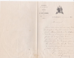 LA FERTE BERNARD MAIRIE LETTRE DOUBLE ENTETE PORTE DE VILLE ANNEE 1863 SIGNE MR GUERRIER MAIRE - Unclassified