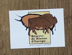 AUTOCOLLANT - RESERVE DE BISONS D'EUROPE 48120 SAINTE-EULALIE-EN-MARGERIDE - LOZÈRE - PROTECTION ANIMAUX NATURE - Stickers