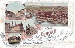 80474- Litho, Gruß Aus Eichstätt, Marktplatz, Dom - Eichstaett