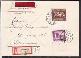 Deutsches Reich Eilbrief / Einschreiben 621 , 642 MIF Stempel Bremen 1936 - Briefe U. Dokumente