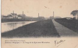 COMINES / KOMEN / LE LONG DE LA LYS VERS WARNETON 1908 - Comines-Warneton - Komen-Waasten