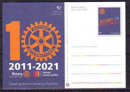 Croatia 2021 Postcard  10 Year ROTARY INTERNATIONAL MNH - Croatia