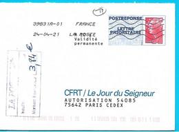 Cachet Taxe Insuffisance Affranchissement 3.84€ Postréponse Beaujard CFRT/Le Jour Du Seigneur Toshiba - 1960-.... Afgestempeld