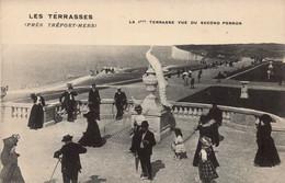 Dep 76 , Cpa LES TERRASSES Près TREPORT-MERS , La 1ère Terrasse Vue Du Second Perron  (28513) - Le Treport