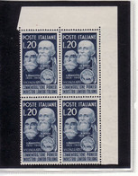 "1950 - QUARTINA ""  LANIERI "" NUOVA MNH** VEDI++++ - 1946-60: Mint/hinged"