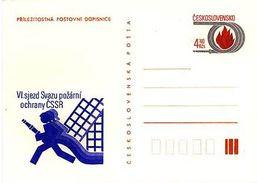 Czechoslovakia 1983 Fire Protection Union Congress - Cartes Postales