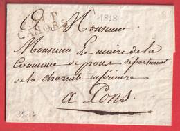 MARQUE P44P CAHORS LOT 1818 VIGNETTE LE CHEVALIER DE REGOURD DE VAXIS MAIRE DE CAHORS POUR PONS CHARENTE - 1801-1848: Precursors XIX