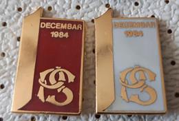 Post Bank, Postanska Stedionica 1984, Banco, Banque Yugoslavia Pins - Banche