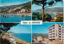 CARTOLINA  SALUTI DA ANDORA,SAVONA,LIGURIA,SPIAGGIA,STORIA,CULTURA,VACANZA,LUNGOMARE,ESTATE,VIAGGIATA 1966 - Savona