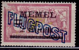Memel, 1921, Airmail, Overprint, 2/1M/Fr, MNG-nogum - Memelgebiet