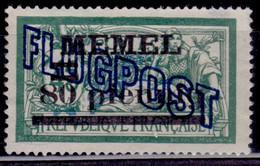 Memel, 1921, Airmail, Overprint, 80/45pf/C, MNG-nogum - Memelgebiet