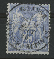 "N° 68  25 Ct Outremer Sage Type I (N/B) Cote 85 € Oblitéré. BELLE OBLITERATION ""GRASSE 9/9/76 ALPES MARITIMES"". TB - 1876-1878 Sage (Tipo I)"