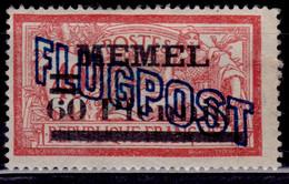 Memel, 1921, Airmail, Overprint, 60/40pf/C, MNG-nogum - Memelgebiet