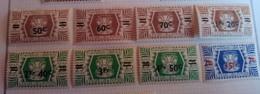 WALLIS ET FUTUNA 1945 - Yv. 148 à 155 NEUF * Cote= 9,00 EUR - France Libre. Série De Londres (8 Val. - Unused Stamps