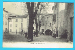 CPA VENCE La Place Godeau - 06 Alpes Maritimes - - Vence
