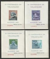 Spain 1961 Sc 983a-6a  Souvenir Sheet Set MNH** - 1961-70 Unused Stamps