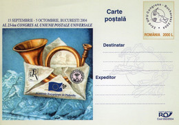 ROMANIA 2004: U.P.U. CONGRESS IN BUCHAREST Unused Prepaid Card 050/2004 - Registered Shipping! - Entiers Postaux
